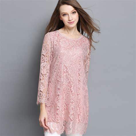 plus size lace blouse lace tunic shirt plus size feminine sleeve