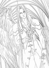 Coloring Fantasy Sephiroth Final Pages Lineart Printable Getcolorings Ffvii Deviantart Drawings Favourites sketch template