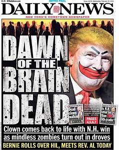 NY Daily News Front Page Is Brutal To Donald Trump ...