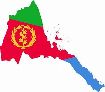 Eritrea Flag Map Malawi Eritrese Flagge Karte