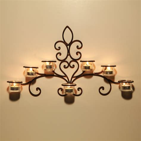 2 light outdoor wall sconce adeco iron and glass horizontal wall hanging candle holder