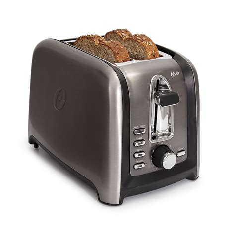 2 Slice Toaster by Oster Black Stainless Collection 2 Slice Toaster