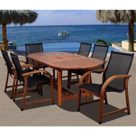 amazonia bahamas oval 7 eucalyptus patio dining set