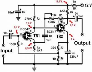 simple audio preamplifiers With 4 volt preamplifier circuit diagrams