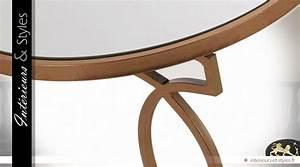 Plateau Deco Design : gu ridon design art d co m tal dor plateau rond miroir int rieurs styles ~ Teatrodelosmanantiales.com Idées de Décoration