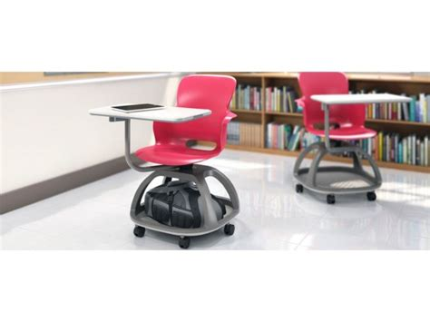 ethos mobile student chair desk with cup holder eth 18tc