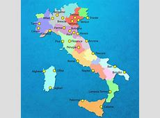 Italy airport map International airports in Italy map