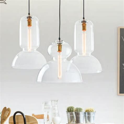 large clear glass pendant light cl 34111 2 e2 contract