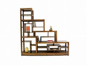 Etagere Escalier Bois : biblioth que en escalier moka tag res destructur es en bois de chataignier meubles bois massif ~ Teatrodelosmanantiales.com Idées de Décoration