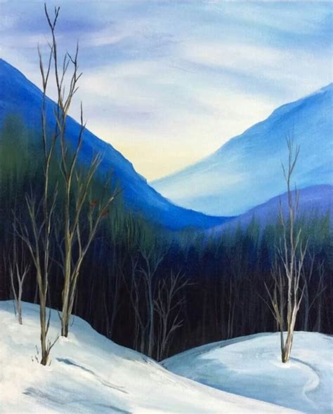 simply amazing winter painting ideas  canvas