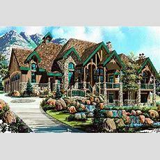 Luxury House Plans Rustic Craftsman Home Design #8166