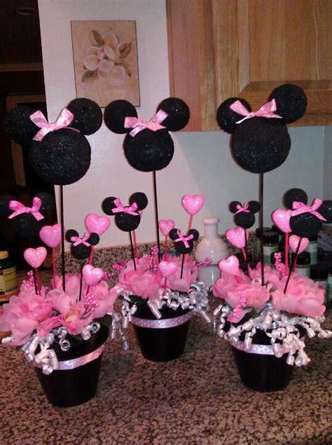 decoration d anniversaire minnie minnie mouse center pieces katlin t more ideas birthdays mice and