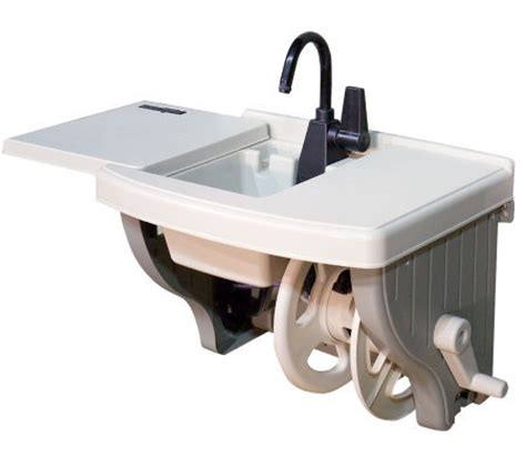Garden Hose Sink by Outdoor Sink With Hose Reel Qvc