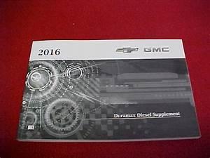 2016 6 6l 6 6 Duramax Diesel Owners Manual Sierra