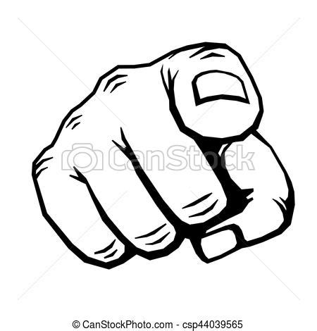 pointing finger clipart with finger pointing vector illustration choosing