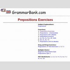 Sixth Grade Language Skill Builders Prepositions
