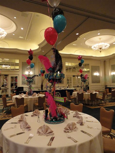 Balloons Mask Feathers Centerpiece Feather