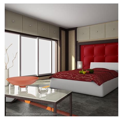 25 Red Bedroom Design Ideas