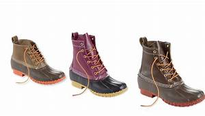 L LBean's duck boots now come in new colors and styles