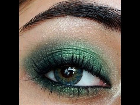 smokey emerald green eye makeup tutorial corallista youtube