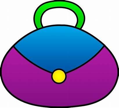 Purse Clipart Clip Purple Bag Handbag Money