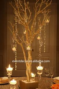Gold wedding tree branches for decorations