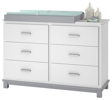 grey changing table with drawers ameriwood cosco leni 6 drawer dresser changing table