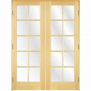 Shop ReliaBilt Prehung 10-Lite Pine French Interior Door ...