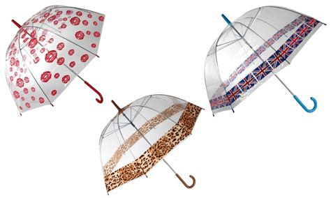 ombrello trasparente a cupola ombrello trasparente a cupola groupon goods