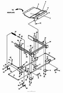 Bunton  Bobcat  Ryan 942233e Zt 225 25hp Kaw W  61 Side Discharge Parts Diagram For Cradle Assembly