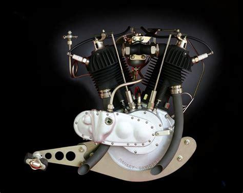 Early Harley V Twin Engine.