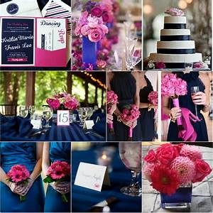 navy blue and fuchsia pink wedding color ideas With pink and blue wedding ideas