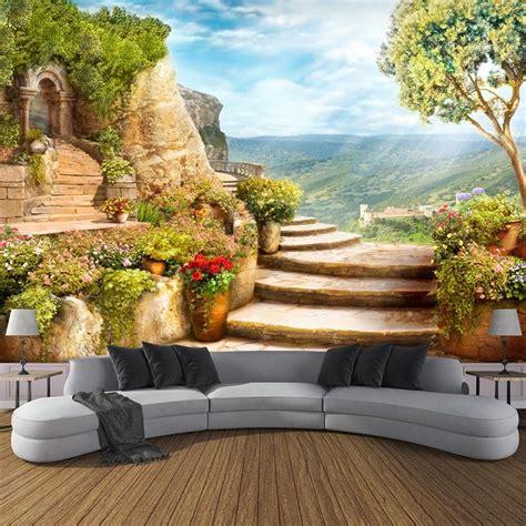 Custom Size Wallpaper European Style Nature Landscape