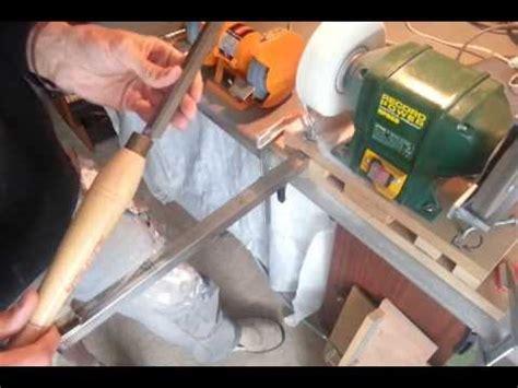 sharpen  roughing gouge woodturning tools youtube