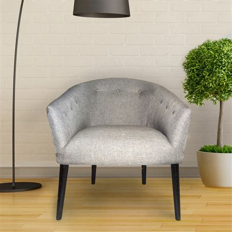 adeco gray tufted fabric club chair ch0243