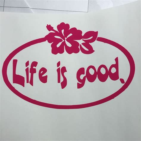 life  good vinyl decal white ebay