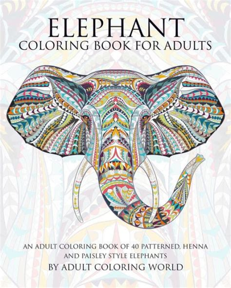 elephant coloring book  adults  adult coloring book