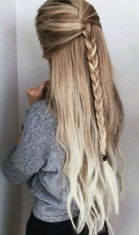simple easy hairstyles  long hair hairstyles  women