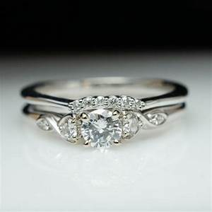 beautiful diamond engagement ring wedding band set 14k With white gold engagement and wedding ring sets