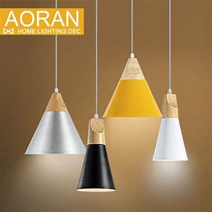 Slope lamps pendant lights wood and aluminum