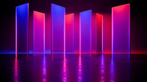 fondo de luz de neon futurista moderno foto premium