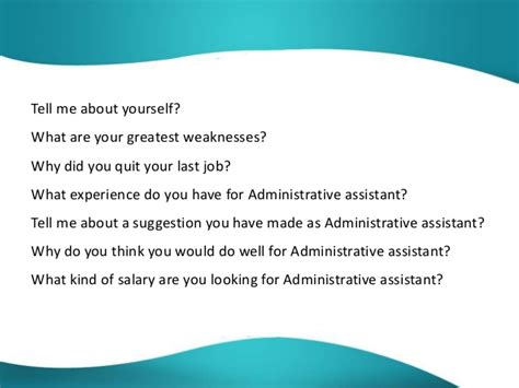 Questions And Answers For Hr Assistant Position by Administrative Assistant Questions And Answers
