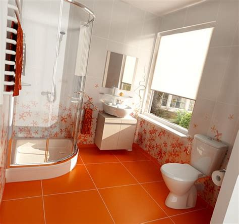 Ideas For An Orange Bathroom by 31 Cool Orange Bathroom Design Ideas Digsdigs