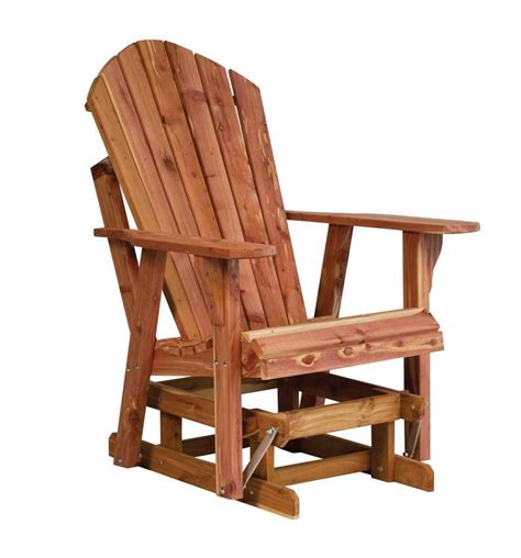 cedar adirondack glider  dutchcrafters amish furniture