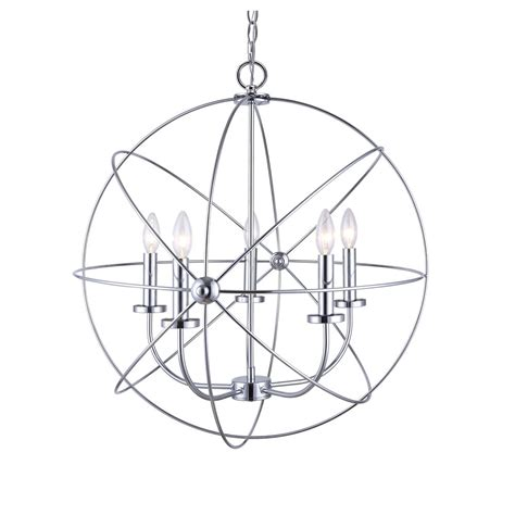 chandelier 5 light orb sphere hanging ceiling pendant