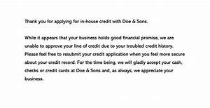 How To Respond To Rejection Email Decline A Credit Request Sample Letters Templates