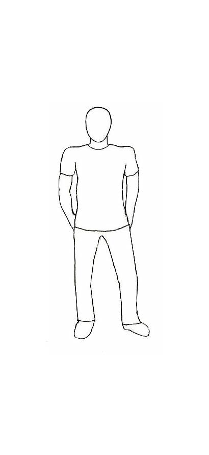 Draw Human Drawing Easy Drawings Person Standing