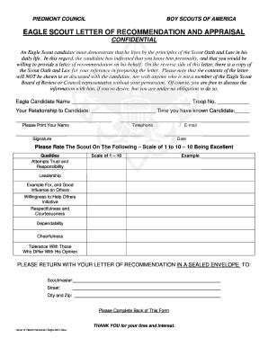 Eagle Scout Resume Form by How To Write A Letter Of Recommendation For An Eagle Scout Candidate Letter Of Re Mendation In