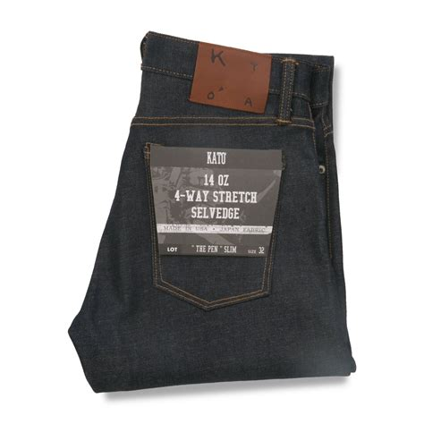 The Pen - Slim – 4-Way Raw 14oz — Brooklyn Clothing