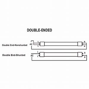 T8 Led 4ft  Tube - 16 5 Watt - Direct Wire - Double Ended Power - Replaces F32t8  U0026 Fo32